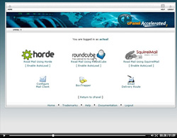 cpanel web mail