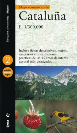 Mapa ecoturístico de Cataluña (Spanish/English) book cover image