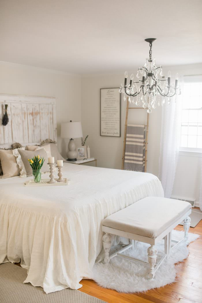 French Country Farmhouse Decor // Our Bedroom - Lynzy & Co. on Bedroom Farmhouse Decor  id=27645