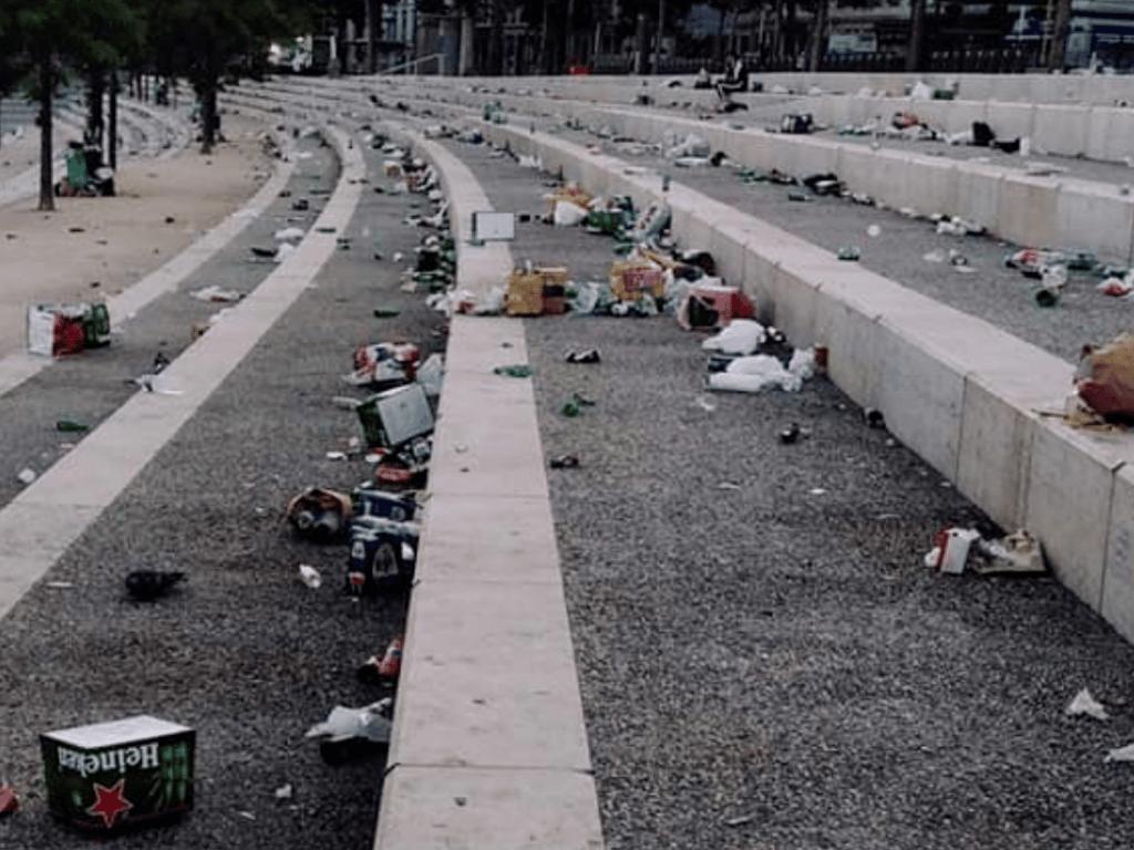 6 tonnes de déchets ont été laissées sur les berges du Rhône lors du week-end de Pentecôte