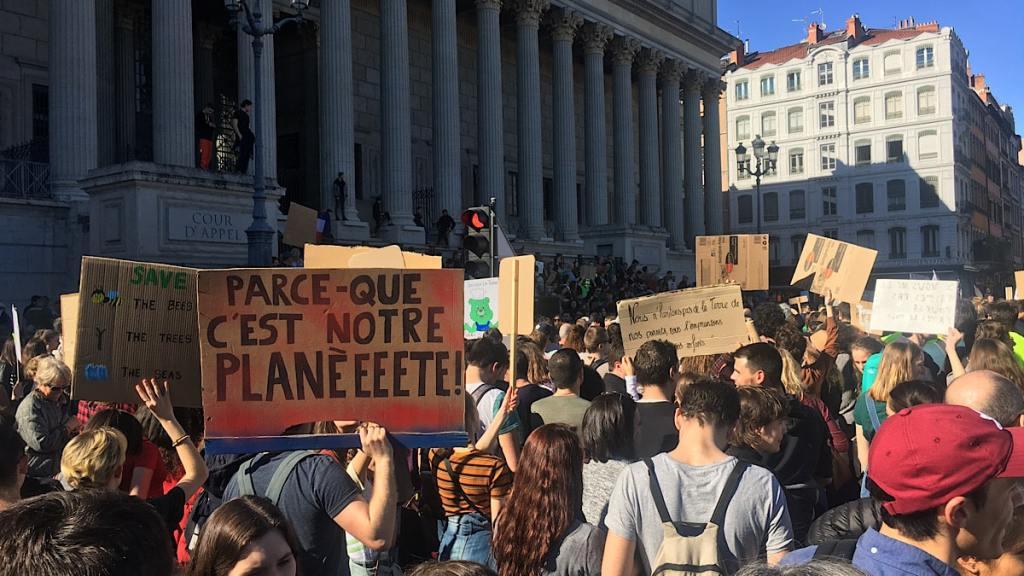 La jeunesse à Lyon mobilisée pour le climat... des actions en septembre