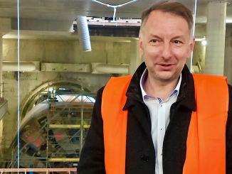 Le tuunelier Coline est arrivé à la future station Oullins Centre