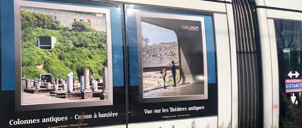 Les musées lyonnais s'exposent sur les tramways, ascenseurs et autres équipements TCL