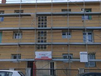 immeuble en cours de rénovation énergétique - Lyon Demain