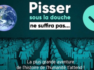 affiche publicitaire Time for the Planet
