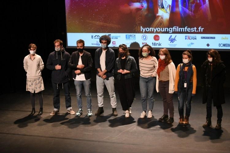 Les scénaristes sélectionnés dans le cadre de la première édition du Concours de Scénario du Festival du Film Jeune de Lyon.
