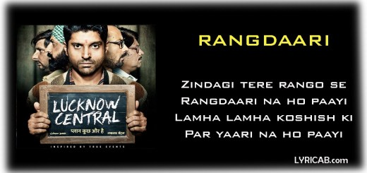 Rangdaari Song lyrics