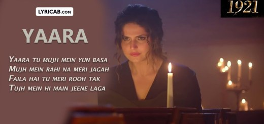 Yaara song lyrics