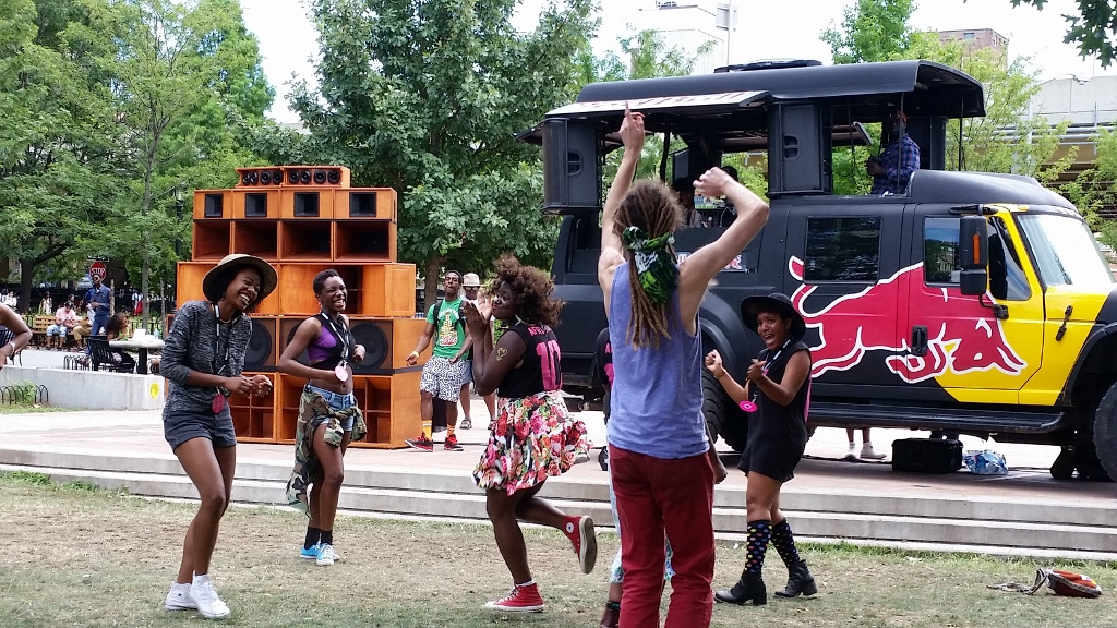 People dancing at AFROPUNK