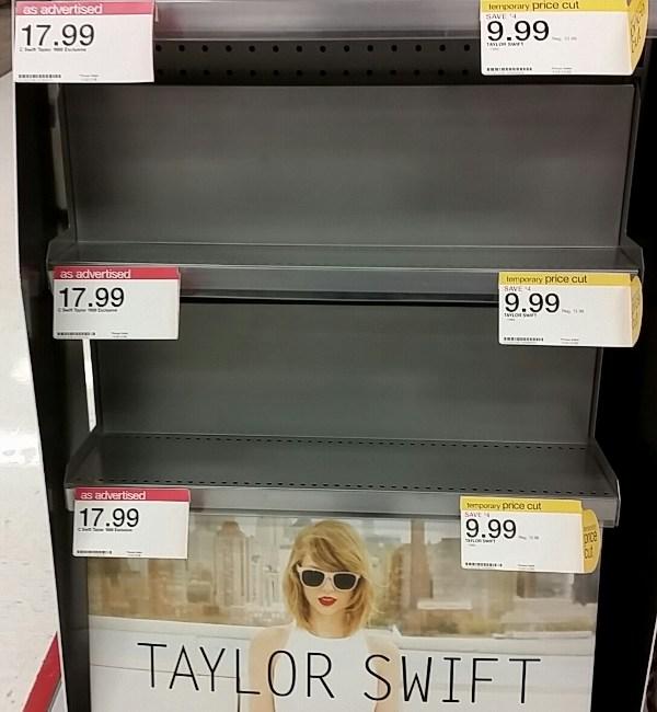 Taylor Swift Empty Store Shelves