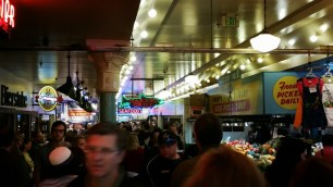 Crowd at Pike Place Market