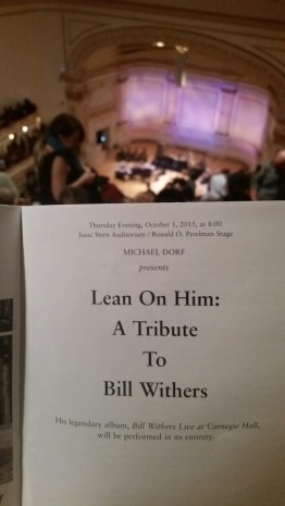 Bill Withers tribute program