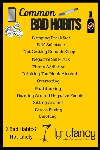 common bad habits