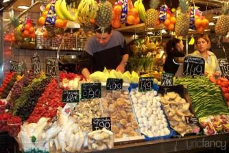 La Boqueria public market in Barcelona, Spain