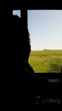 Tiye on the train