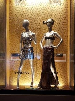 Shakira and Rihanna costumes at Hard Rock Cafe in Hollywood, Florida