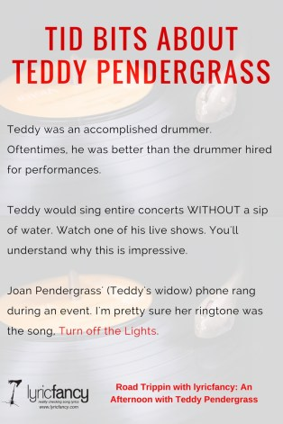 teddy pendergrass tid bits