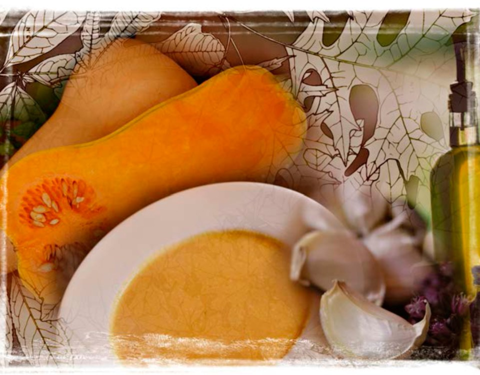 butternut squash and apple cider soup
