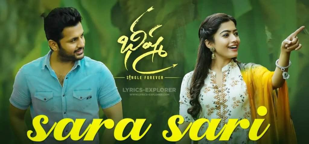 Sara Sari Song Lyrics in English - Bheeshma Telugu Lyrics Download in PDF