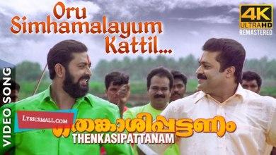 Photo of Oru Simhamalayum Kaattil Lyrics | Thenkasipattanam Movie Songs Lyrics