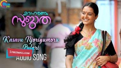 Photo of Kasavu Njoriyumoru Pulari Song Lyrics | Udaharanam Sujatha Movie Songs Lyrics