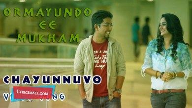 Photo of Chayunnuvo Lyrics | Ormayundo Ee Mukham Songs Lyrics