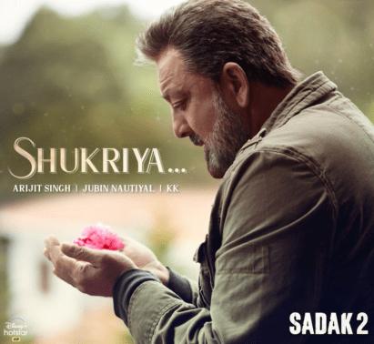 Shukriya Lyrics | Sadak 2 | Arijit Singh | KK