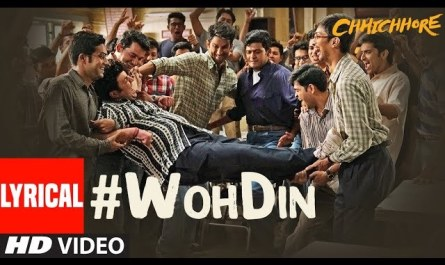 Movie Chhichhore | woh din bhi kya din the lyrics | Sushant