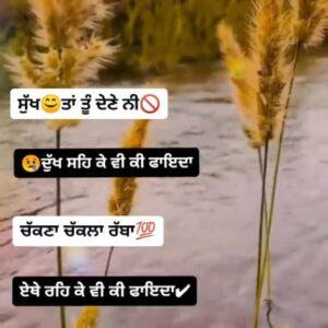 Chakkna Chak la Rabba Sad Punjabi Status Download Video sukh ta tu dene ni dukh seh ke vi ki faida? WhatsApp status video Sad Punjabi Status.