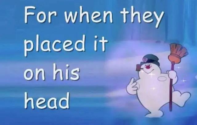 Frosty The Snowman Song Lyrics