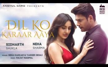 Dil Ko Karaar Aaya Lyrics - Yaseer Desai & Neha Kakkar| Sidharth Shukla
