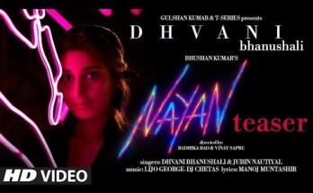 Nayan Lyrics - Dhvani Bhanushali x Jubin Nautiyal