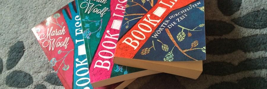 alle drei Bücher der BookLess-Saga