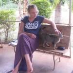 Lilian mit Katze Luise