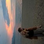 Nadja und ich ganz romantisch beim Sonnenuntergang
