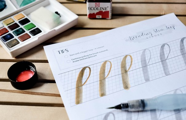 Learn brush pen calligraphy