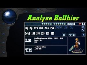 Analyse de Balthier sur FFBE Global.