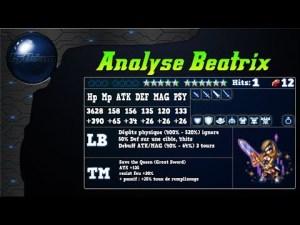 Analyse de Beatrix de ff9 sur FFBE Global.