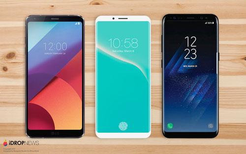 صور تخيلية – الأيفون 8 ضد جالاكسي S8 و LG 6 – ما رأيكم ؟
