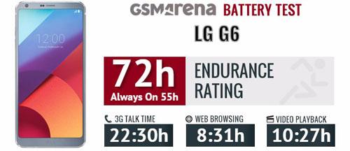 اختبار أداء بطارية هاتف LG G6 – نتائج جيدة لكنها غير منافسة !
