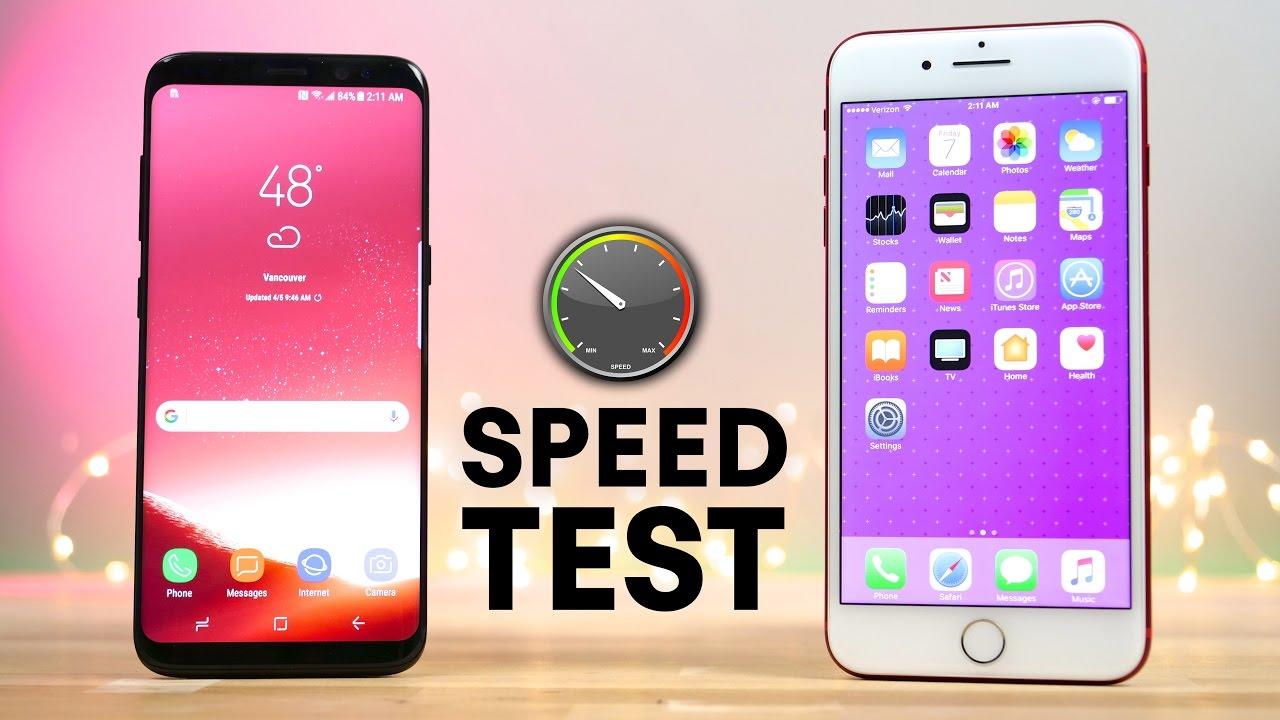 فيديو: iPhone 7 يتفوق على Galaxy S8 في اختبار للأداء