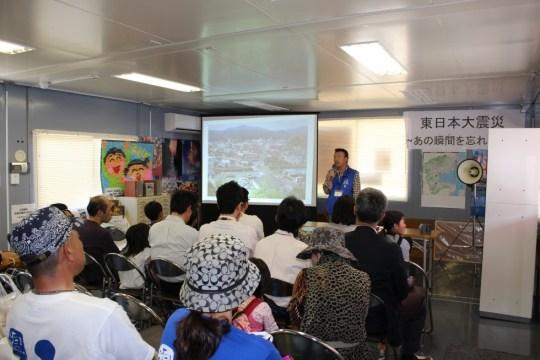 南三陸ガイドサークル汐風による「震災語り部教室」