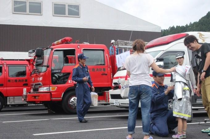 消防署によるAED講習、車両見学がありました!!