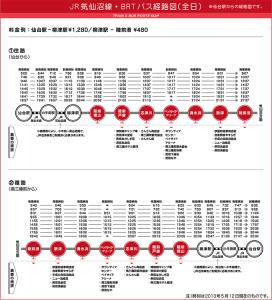 路線バスBRT時刻表