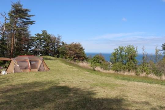 青い海と緑の松の絶景『神割崎キャンプ場』