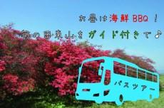 海鮮BBQ付き!ガイドと一緒に春の田束山を楽しむ観光ツアー