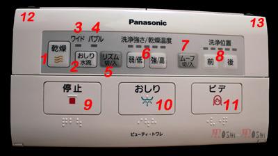 ウォシュレット télécommande toilette japonaise