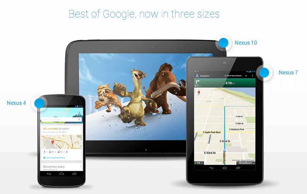 New Google Nexus Devices – In Three Sizes~