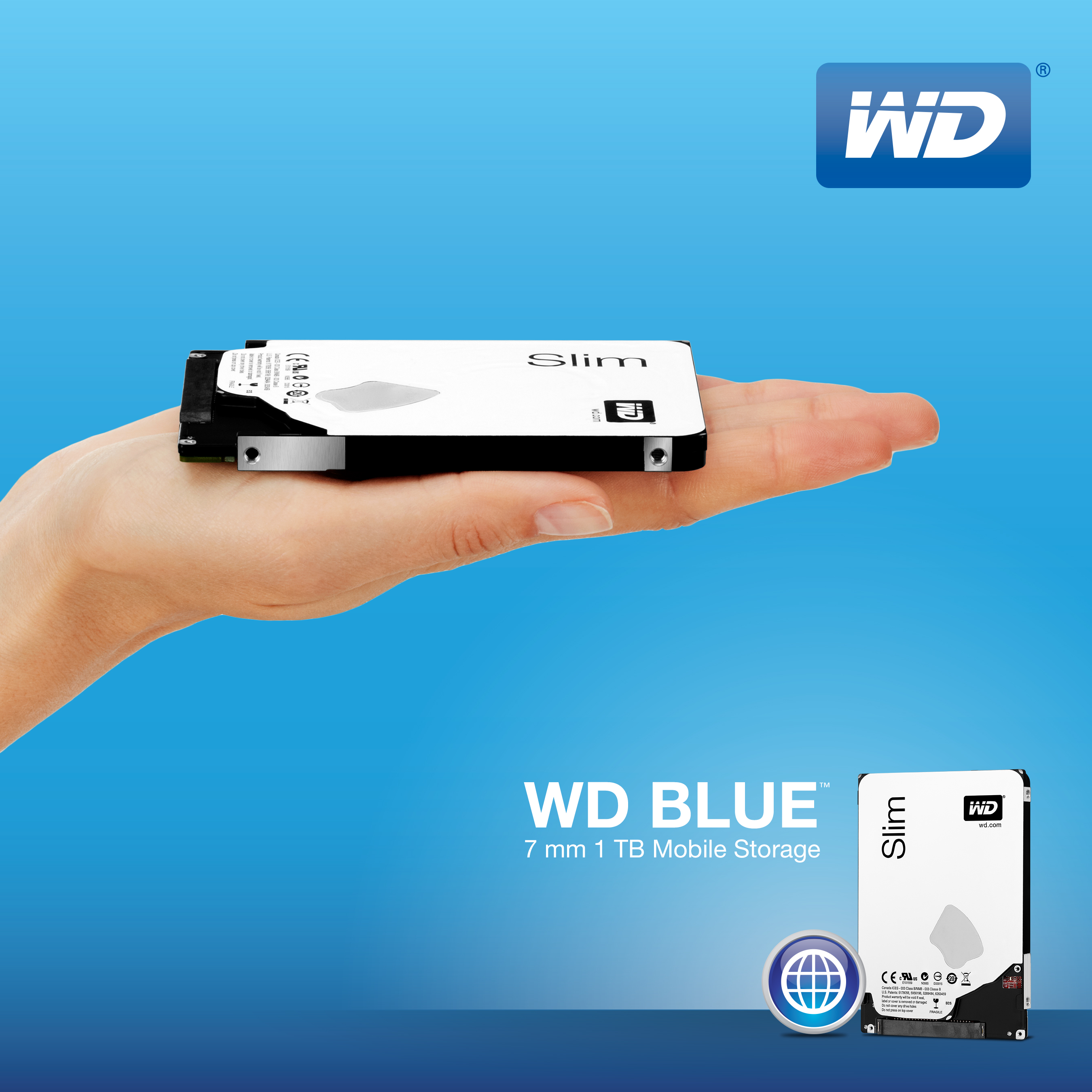 WD Delivers World's Thinnest ST 1TB Hard Drive~