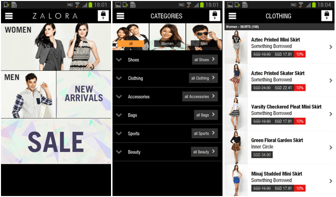 ZALORA Launches Android Shopping App~